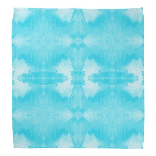 watercolor teal pattern bandanna