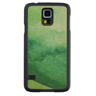 Watercolor texture carved maple galaxy s5 case