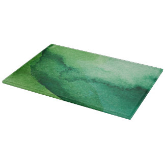 Watercolor texture cutting board