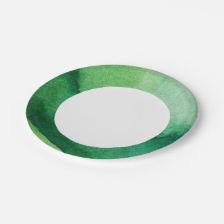 Watercolor texture paper plate