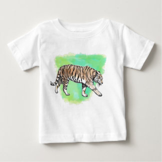 Watercolor Tiger Baby T-Shirt