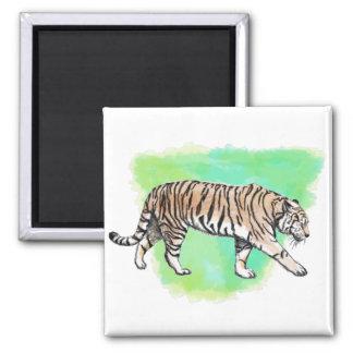 Watercolor Tiger Magnet