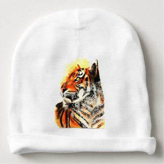 Watercolor Tiger Mandala Baby Beanie