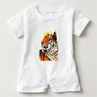 Watercolor Tiger Mandala Baby Bodysuit