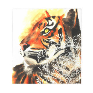 Watercolor Tiger Mandala Notepad