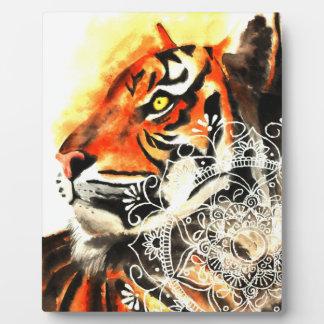 Watercolor Tiger Mandala Plaque