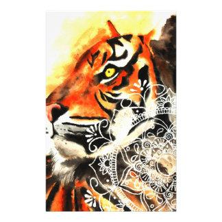 Watercolor Tiger Mandala Stationery