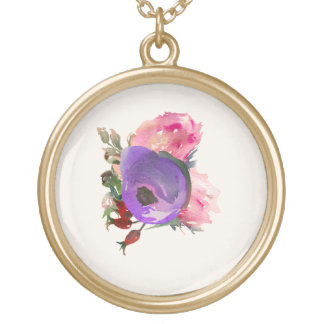 Watercolor treasure gold plated necklace