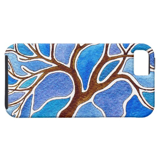 Watercolor Tree in Blue Case For The iPhone 5