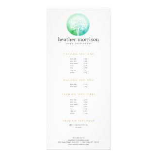 Watercolor Tree Yoga and Wellness Rack Card