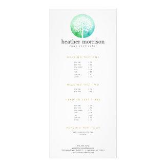 Watercolor Tree Yoga and Wellness Rack Card