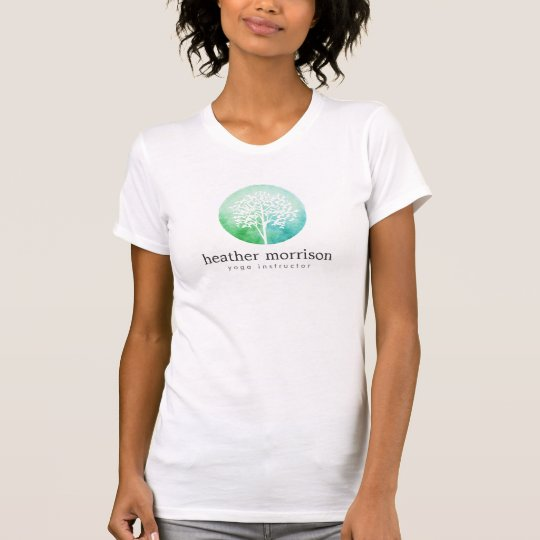 Watercolor Tree Yoga and Wellness T-Shirt