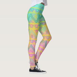 Watercolor Tribal Chic Geometric Legging