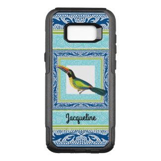 Watercolor Tropical Beach Toucan Bird Pattern OtterBox Commuter Samsung Galaxy S8+ Case