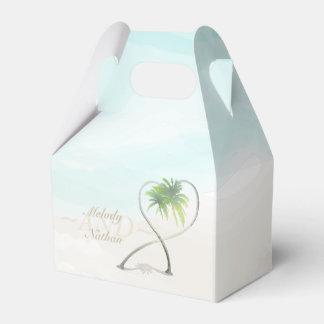 Watercolor Tropical Beach Wedding Favor Box