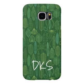 Watercolor Tropical Leaves | Monogram Samsung Galaxy S6 Cases