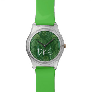 Watercolor Tropical Leaves | Monogram Watch