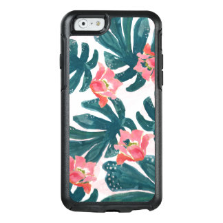 Watercolor Tropical Palm,Hawaiian Hibiskus OtterBox iPhone 6/6s Case