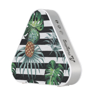 Watercolor tropical pineapple with black stripes