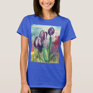 Watercolor Tulips T-Shirt