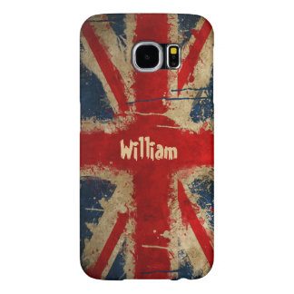 Watercolor UK Flag Union Jack Pattern Monogram Samsung Galaxy S6 Cases