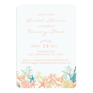 Watercolor Under The Sea Bridal Shower Invitation