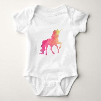 Watercolor Unicorn baby romper