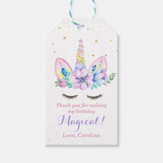 Watercolor Unicorn Gift Tag