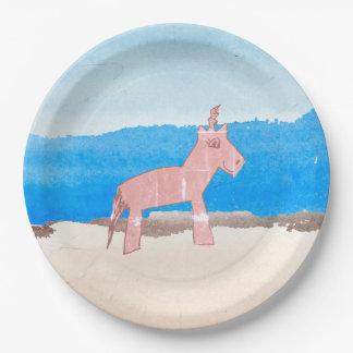 Watercolor Unicorn Paper Plates