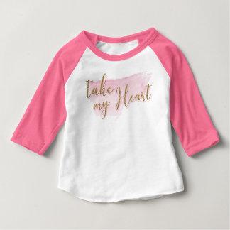 Watercolor Valentine Baseball Style Shirt