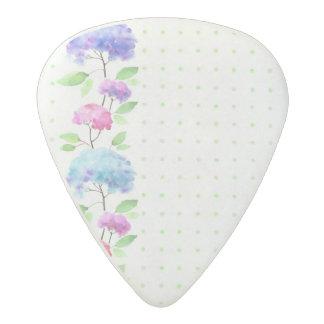 Watercolor vertical seamless pattern border acetal guitar pick