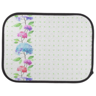 Watercolor vertical seamless pattern border car mat