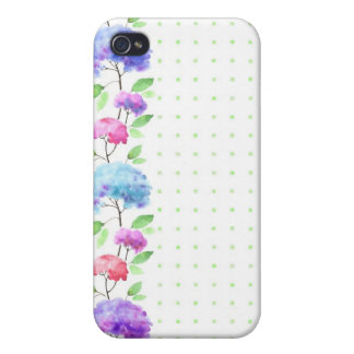 Watercolor vertical seamless pattern border case for the iPhone 4