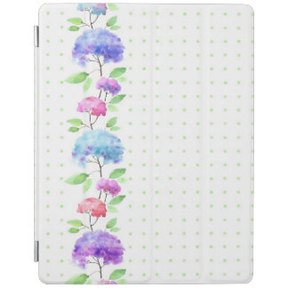 Watercolor vertical seamless pattern border iPad cover