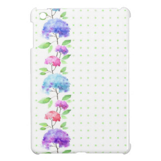 Watercolor vertical seamless pattern border iPad mini cases