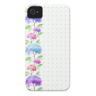 Watercolor vertical seamless pattern border iPhone 4 cover