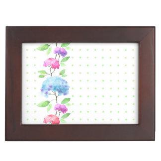 Watercolor vertical seamless pattern border keepsake box