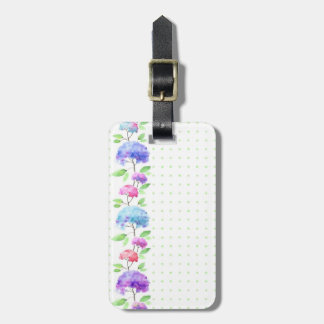 Watercolor vertical seamless pattern border luggage tag