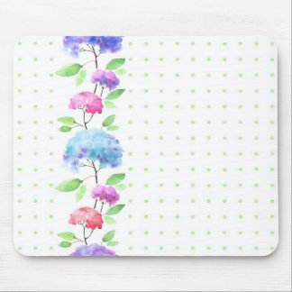 Watercolor vertical seamless pattern border mouse pad