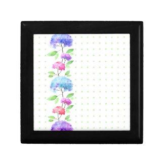 Watercolor vertical seamless pattern border small square gift box