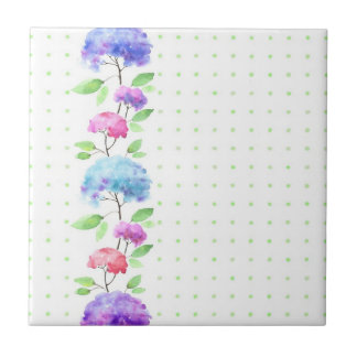 Watercolor vertical seamless pattern border tile