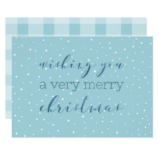Watercolor Very Merry Christmas Card