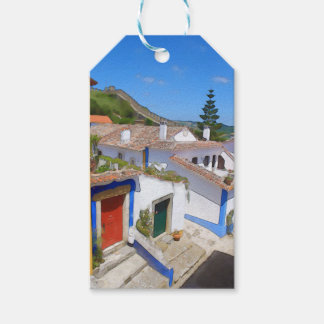 Watercolor village gift tags