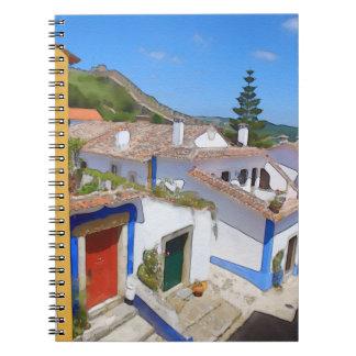 Watercolor village notebook