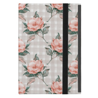 Watercolor vintage floral pattern iPad mini covers