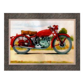 Watercolor Vintage Motorcycle Postcard