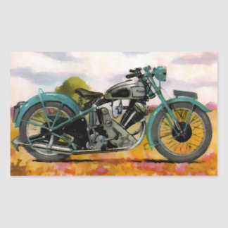 Watercolor Vintage Motorcycle Sticker