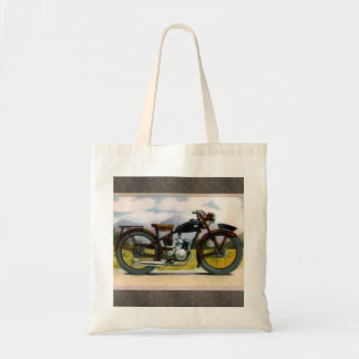 Watercolor Vintage Motorcycle Tote Bag