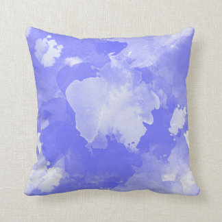 watercolor violet pattern cushion