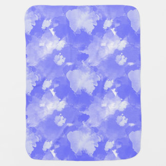 watercolor violet stains  pattern baby blanket